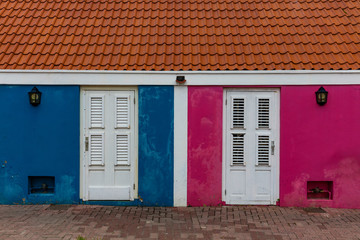 Colourful homes on the streets of Willemstad