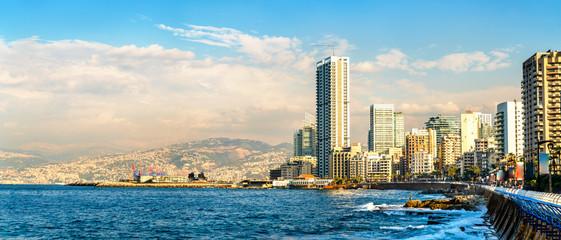 The Corniche seaside promenade in Beirut, Lebanon Wall mural
