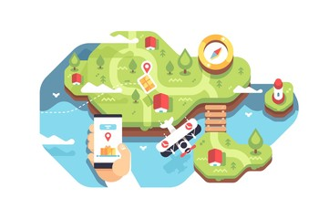 Smartphone with application delivery tracking
