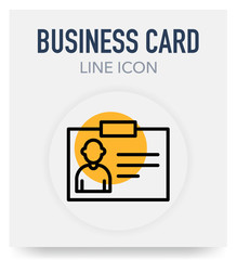 BUSINESS CARD LINE ICON