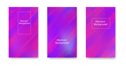 Color geometric gradient, futuristic background. Gradient, neon, lines, forms. Vector. Modern cover in a minimalist style.