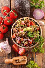 vegetable salad with lentils