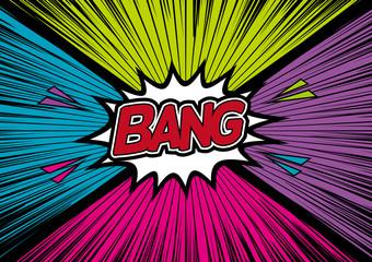 アメコミ風爆発 Bang! Comic Speech Bubble.
