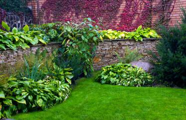 Detail of a botanical garden