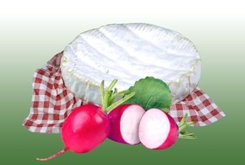 Camembert mit Radieschen