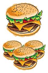 cheeseburger illustration