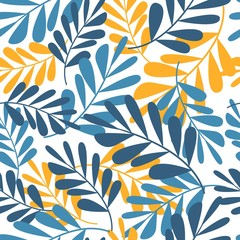 Floral seamless pattern tropical leaves, Fashion, interior, wrapping consept.