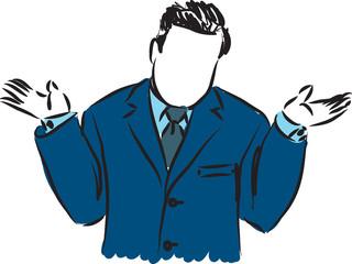 businessman why illustration