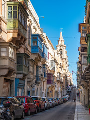 Fotobehang Madrid The City of Valletta is a cultural UNESCO World Heritage Site in Malta. The City of Valletta is located on the South Eastern region of Malta.