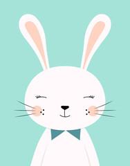 cute cartoon rabbit boy
