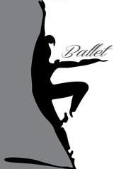 ballet dancer silhouette 3 lettering