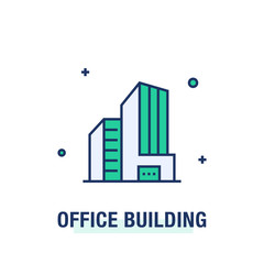 OFFICE BUILDING ICON CONCEPT