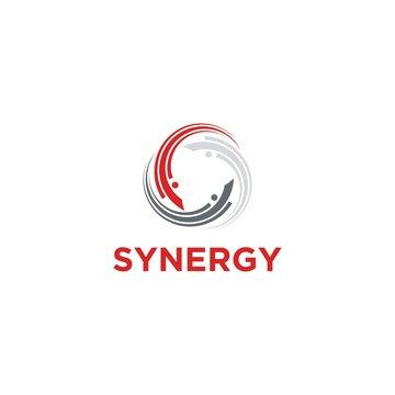 Synergy Logo Design Vector
