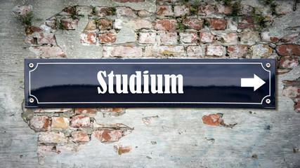 Schild 390 - Studium