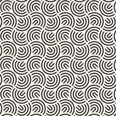 Vector seamless arc lines pattern. Modern abstract lattice texture. Repeating geometric rounded wavy stripes.