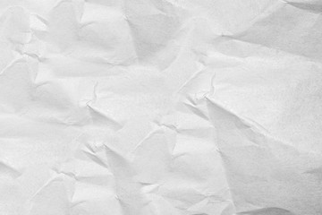 White crumpled paper texture for Photo background