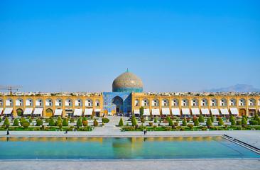 The landmarks of Naqsh-e Jahan Square, Isfahan, Iran