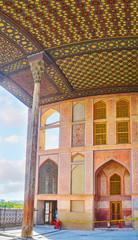 The portico of Ali Qapu Palace, Isfahan, Iran