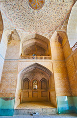 The niche in wall of entrance hall of Ali Qapu Palace, Isfahan, Iran