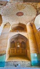 The entrance hall of Ali Qapu Palace, Isfahan, Iran