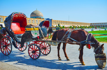 Attractions in Isfahan old town, Iran
