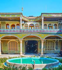 The scenic court of Timche-ye Malek, Grand Bazaar, Isfahan, Iran