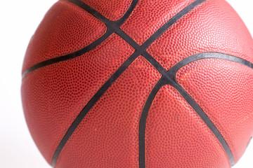 Dark red Basketball over white background. Basketball isolated