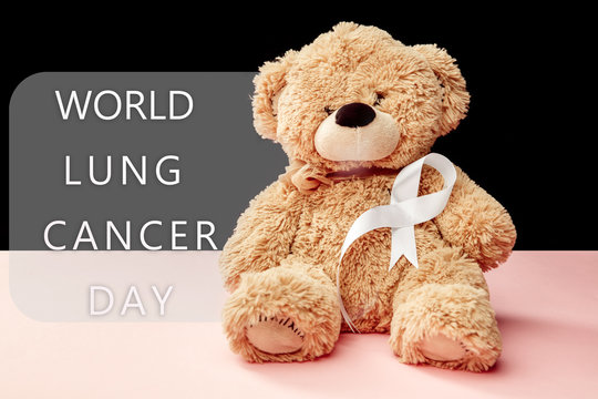 The white ribbon, a symbol of the international or world day of fight against lung cancer. The cancer, health, breast, awareness, campaign, disease, help, care, support, hope, illness, survivor and
