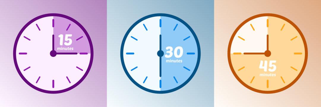 Minuteur - Temps 15, 30 et 45 minutes