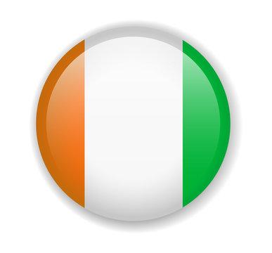 Cote dIvoire flag round bright icon on a white background