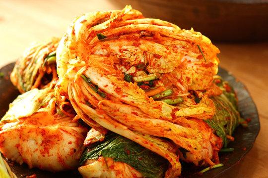 한국의 음식 배추 김치 축제 백그라운드 이미지