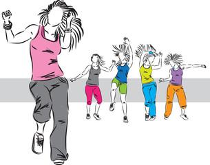dancers group illustration E