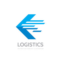 Logistic company - concept business logo template vector illustration. Abstract arrow creative sign. Transport delivery service symbol. Graphic design element.