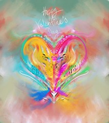 heart on abstract background