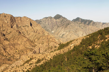 Scenic view of Helan Mountain Suyukou National Forest Park, Ningxia province, China