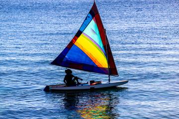 Saint Vincent and the Grenadines,Rasta man sailing boat
