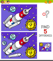 differences game with space rocket