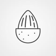 Almond vector icon sign symbol