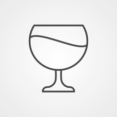 Wine vector icon sign symbol