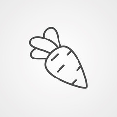 Carrot vector icon sign symbol