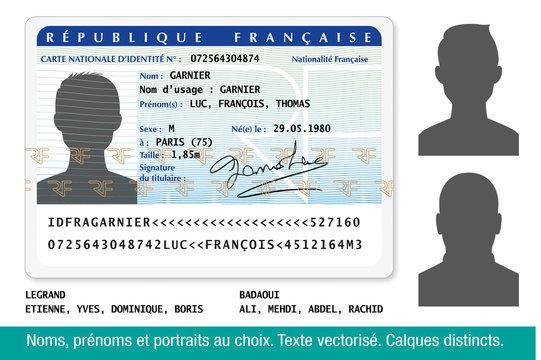 Carte Nationale d'Identité Française-Homme-1