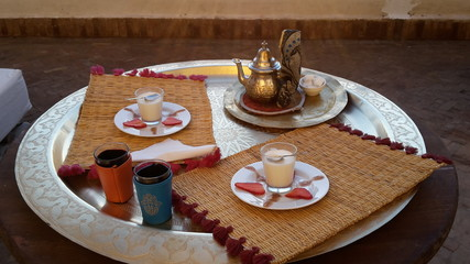 traditional pepper mint tea in morocco