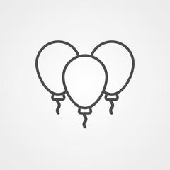 Balloons vector icon sign symbol