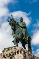 Statue König Jaime I in Palma, Mallorca
