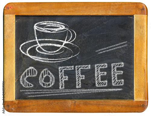 Coffee Advertising Design Template On Blackboard Coffee Shop Menu