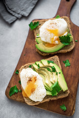 Poached Eggs and Avocado Sandwiches