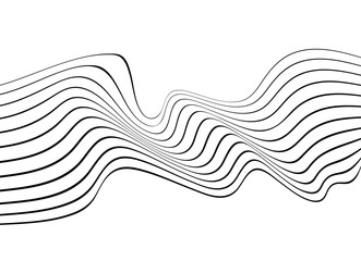 black and white mobious wave abstract background
