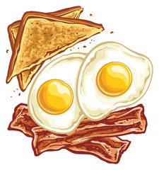 Bacon eggs and toast