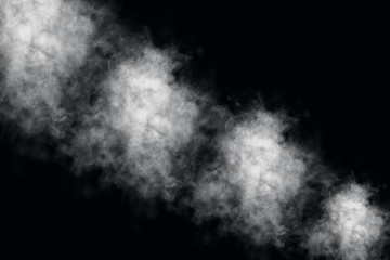 White dust explosion template texture background
