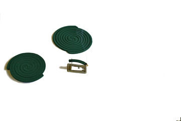 Spirals of mosquito repellents for outdoor use.